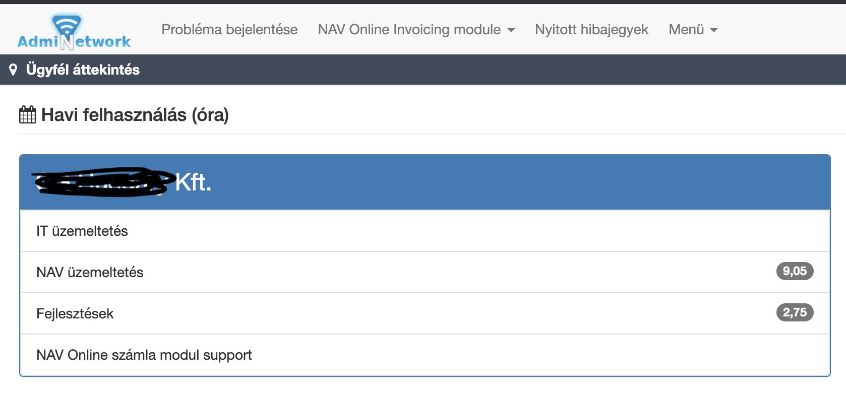 AdmiNetwork Support Portal